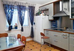 шторы на окна кухни