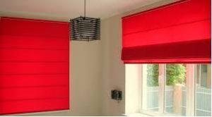 красные римские шторы