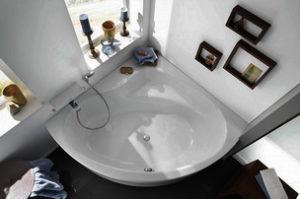 Ванна стальная угловая
