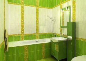 зелёная плитка в санузле